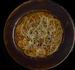Spaghetti con Mariscos