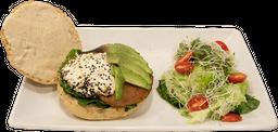 Portobello Burger + Agua del día