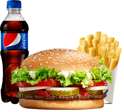 Combo Whopper® sin Queso + Papas y Refresco