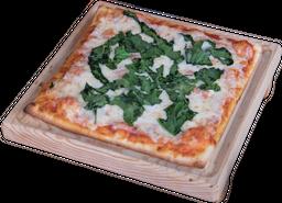 Pizza de Doble Queso con Espinaca