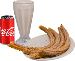 Envío Gratis: Churros + Malteada y Coca-Cola Sin Azúcar