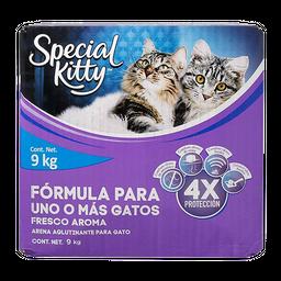 Arena Para Gato Special Kitty Aglutinante Fresco Aroma 9 Kg