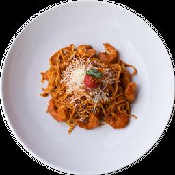 Spaghetti al Chipotle con Camarones