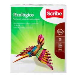 Papel Clase Ecológico Scribe Tamaño Carta 500 U