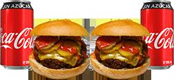 Envío Gratis: 2 Say Cheese Burgers + 2 Coca-Cola Sin Azúcar