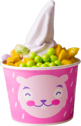 2x1 Helado de Yogurt Mediano con Toppings