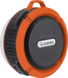 Bocina Bluetooth para regadera color naranja
