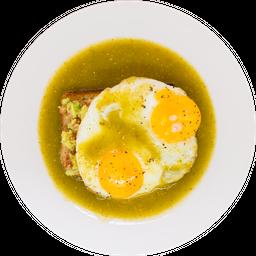 Huevo Sobre Tapa de Guacamole