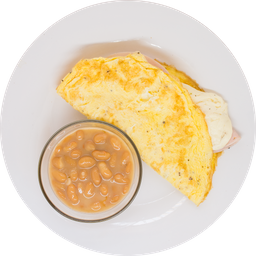 Omelette y Frijoles de la Olla