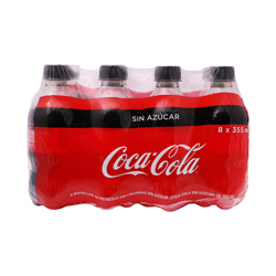 Refresco Coca-Cola Sin Azúcar 355 mL x 8 U