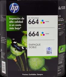 Cartucho HP 664 Tricolor 2 U