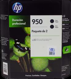 Tinta Hewlett Packard en Cartucho 950 Negro 2 U