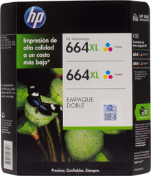 Cartucho 664 Xl Tricolor. 2 U Hewlett Packard