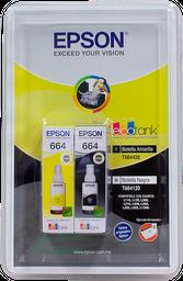 Tinta Epson 664 Negro y Amarillo 2 U