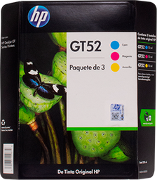 Tinta Gt52 Tricolor 3 U Hewlett Packard