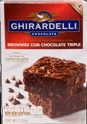 Harina Para Brownies Ghirardelli Tripe Chocolate 550 g