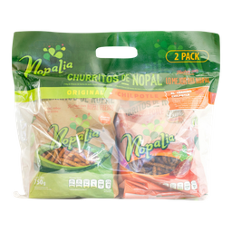 Churritos Nopalia De Nopal  Natural y Enchilado 750 g