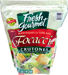 Crutones Fresh Gourmet Focaccia Mantequilla Con Ajo 907 g