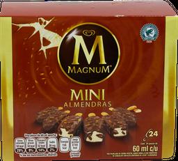 Paleta Helada Mini Magnum Con Almendras 24 U
