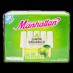 Paleta Manhattan  Limon Orgánico 45 g x 40
