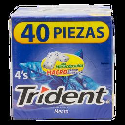 Chicle De Menta 40 U Trident