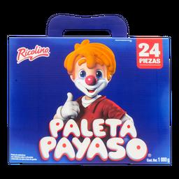 Malvavisco Cubierto de Chocolate Paleta Payaso 24 U