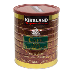 Café Molido Kirkland Signature 100% Colombiano 1.36 Kg