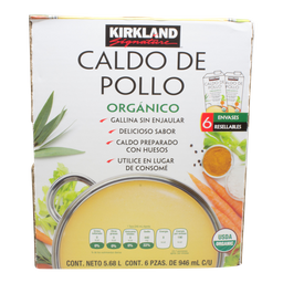 Caldo De Pollo Kirkland Signature 946 mL X 6