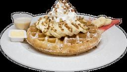 Waffle Plátano con Nuez