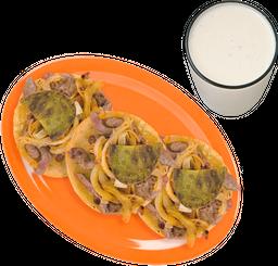 3 Tacos de Suadero + Bebida