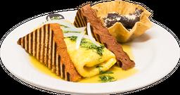 Omelette de Champiñones con Queso Oaxaca