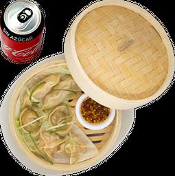 Envío Gratis: Handmade Dumplings + Coca-Cola Sin Azúcar