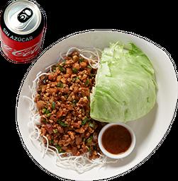Envío Gratis: Chicken Lettuce Wraps + Coca-Cola Sin Azúcar