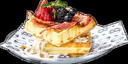 Waffles con Tocino