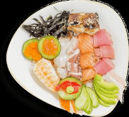 Chirashi Sushi + Refresco