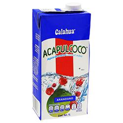 Agua de Coco Acapulcoco Arándano 1 L