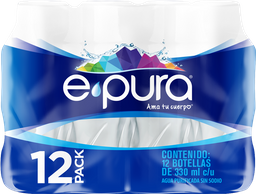 Agua Natural E Pura 330 mL X 12