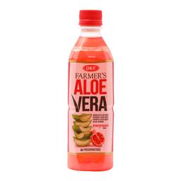 Agua Saborizada OFK Farmer's Aloe Vera y Granada 500 mL