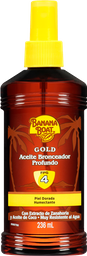 Bronceador Banana Boat Gold en Aceite 4 FPS Piel Dorada 236 mL
