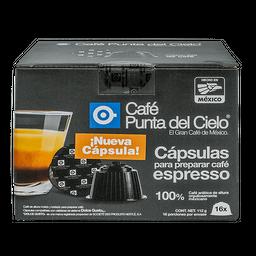 Cápsulas de Café Punta del Cielo Espresso 16 U
