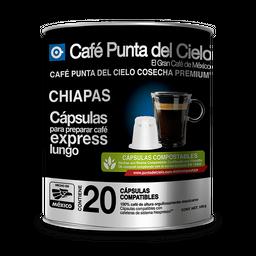 Cápulas de Cafe Café Punta del Cielo Express Lungo Chiapas 20 U