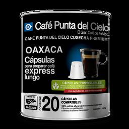 Cápsulas De Café Punta del Cielo Express Lungo Oaxaca  20 U