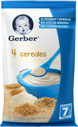 Cereal Gerber 4 Cereales 2da Etapa 300 g