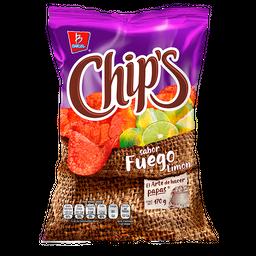 Botana Chips Papas Fuego Limón 170 g