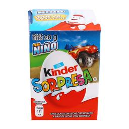 Chocolate Kinder Sorpresa Niño 20 g