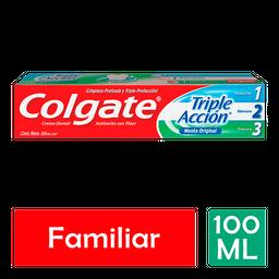Pasta Dental Colgate Triple Acción Menta Original 100 mL