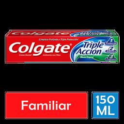 Pasta Dental Colgate Triple Acción Menta Original 150 mL