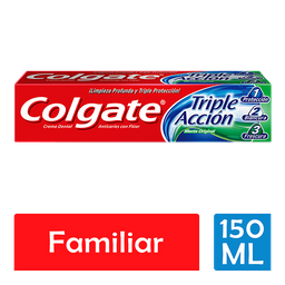 Pasta Dental Colgate Triple Acción Menta Original 150 mL