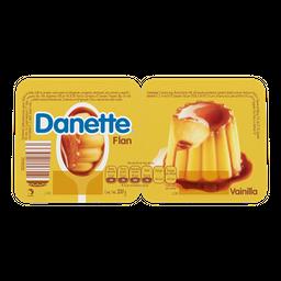 Flan De Vainilla Con Caramelo Danette  2 X 100G