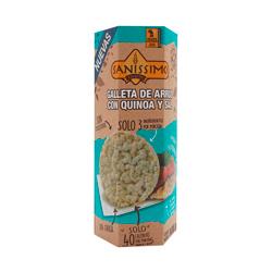 4x3 Sanissimo Galletas de Arroz Inflado Con Quinoa y Sal